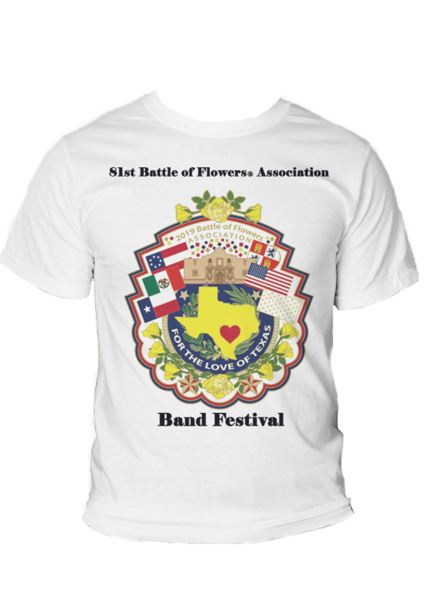 Battle of Flowers® Association 81st Band Festival 2019 Shirt